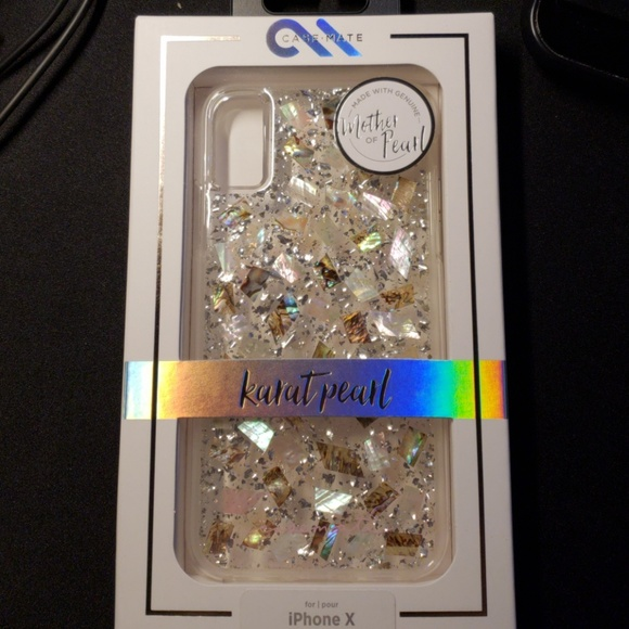 best cheap dd1e3 2fbe5 New in Box Case-Mate iPhone X Karat Pearl Case NWT